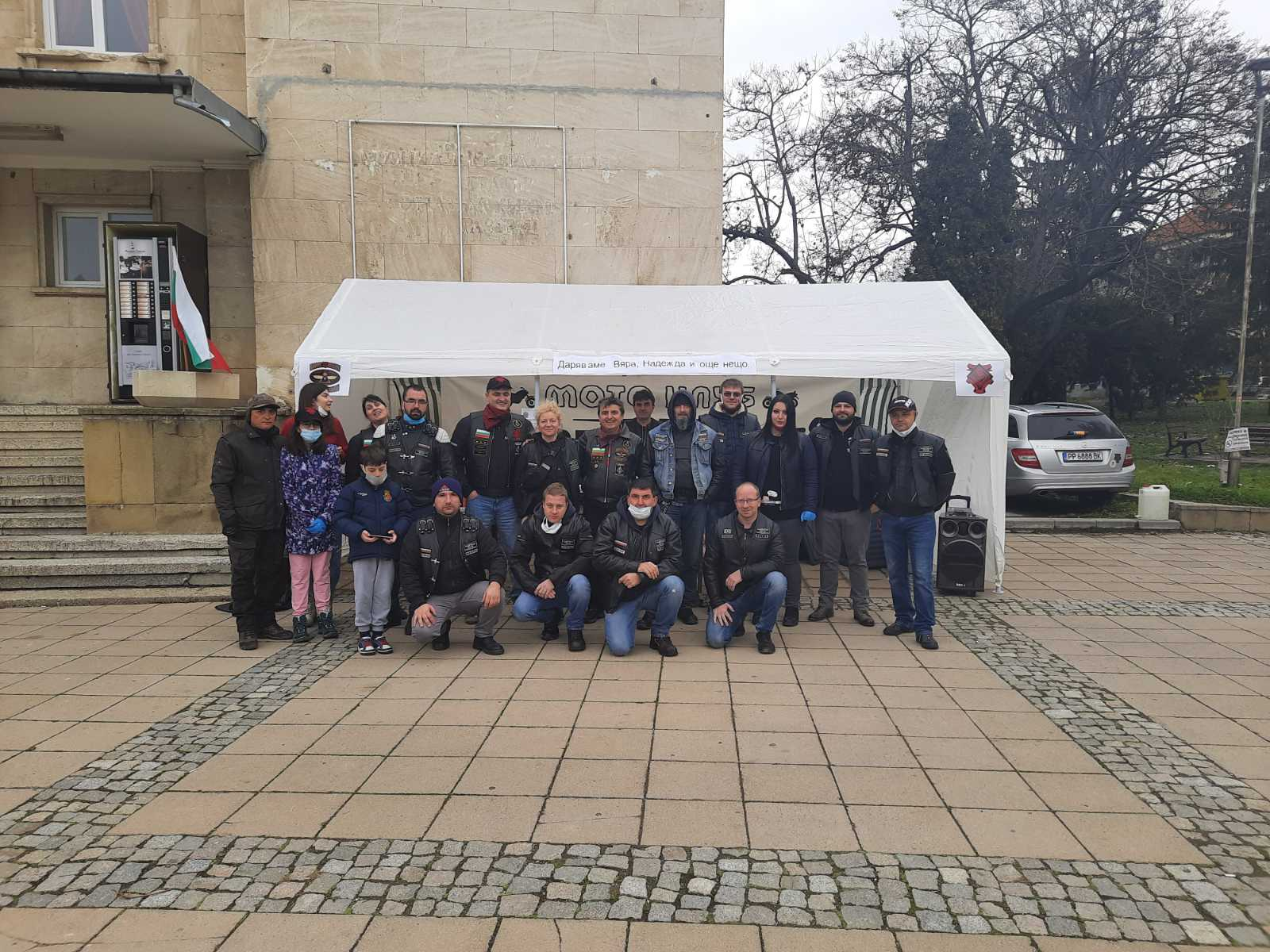 Доброто на празника: Топъл обяд за хора в нужда на Никулден от мотористи-масони